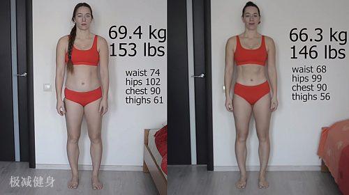 减肥前后对比图